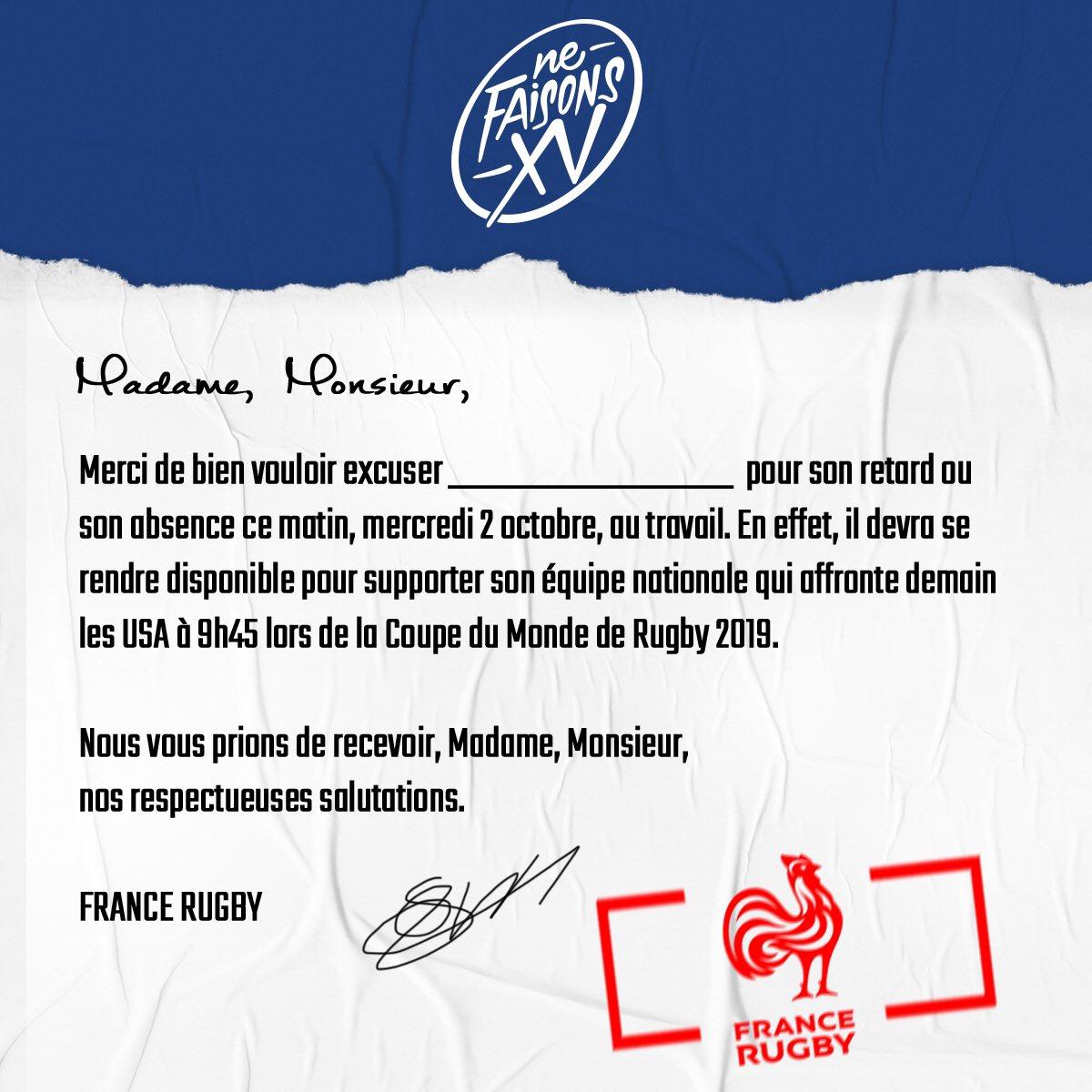 France Usa La Ffr Vous Délivre Une Lettre D Excuse Pour